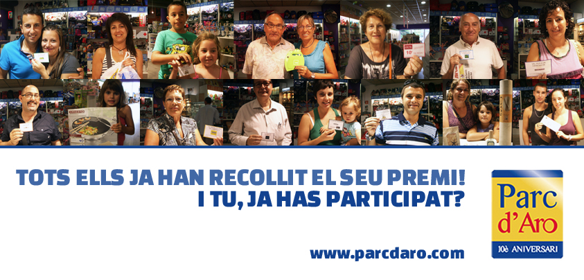 Guanyadors setmana 3 sorteig setmanal Parc d'Aro