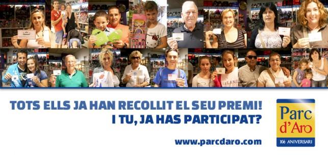 guanyadors sorteig Parc d'Aro de Platja d'Aro