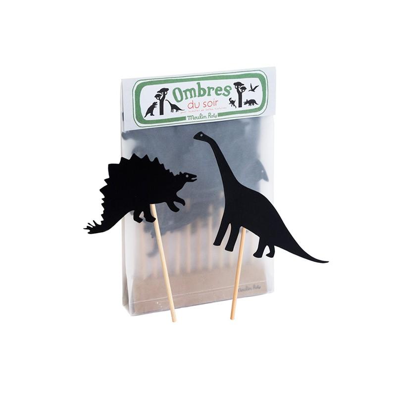 Joc d'ombres de dinosaures